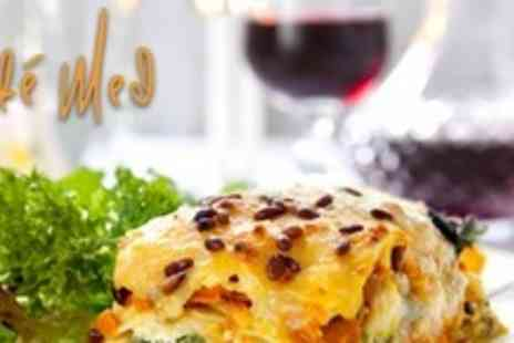 Cafe Med - Three Course Mediterranean Cuisine For Two - Save 67%