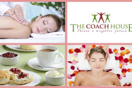 The Coach House - Full Body Swedish Massage, Indian Head Massage plus Afternoon Tea - Save 52%