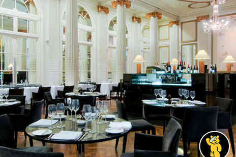 The Waldorf Hilton - Three Course Carte Meal for Two with Champagne - Save 54%