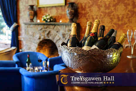 Tre ysgawen Hall - One night stay and full use of the spa, thermal suite and Prosecco - Save 50%
