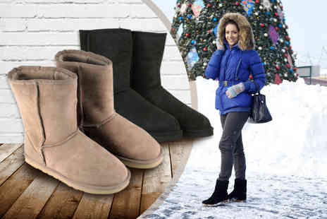 Shopper Gold - Pair of sheepskin ankle boots - Save 76%