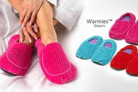 Intelex - Two pairs of Warmies Microwavable Slippers - Save 62%