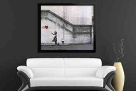 Red Art - Voucher for a Choice of Framed Banksy Art Prints - Save 62%