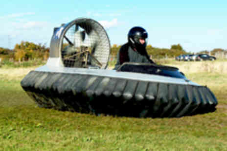 Hovercraft Adventures - Five or Ten Laps in a Hovercraft Including On Site Training - Save 56%