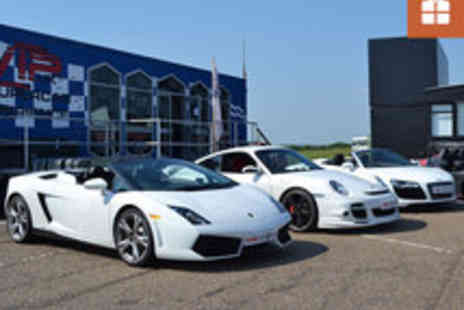 VIP UK Experience Days - A Total of 9 or 12 Laps in Three Supercars - Save 72%