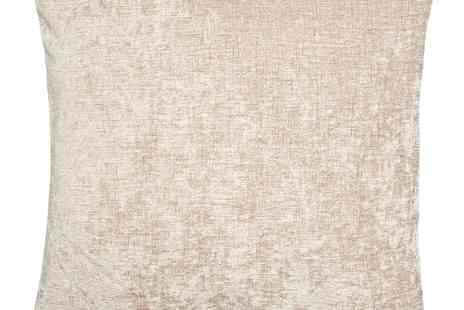 debenhams - Taupe Chenille Cushion - Save 30%