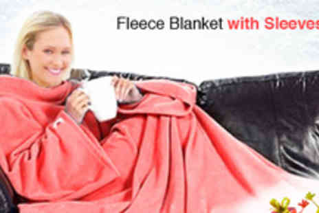 Emyub - Comfy Sofa Fleece Blanket with Sleeves - Save 44%