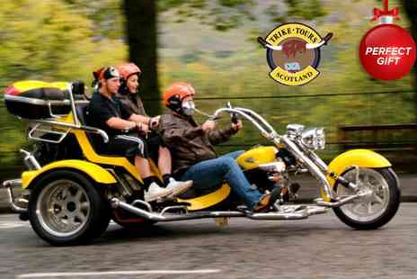 Trike Tours Scotland - One hour Chauffeured motor trike ride & photoshoot  - Save 61%