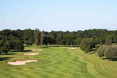 Hoebridge Golf Centre - 18 Holes For Two With Cheeseburger Each - Save 65%