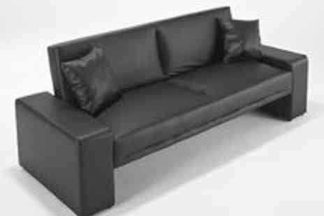 cloud_nine_furniture - Faux Leather Modern Luxury Sofa Bed - Save 40%