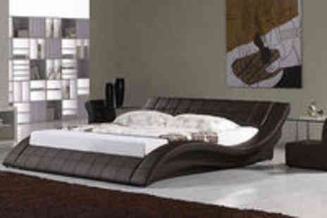 italiandesignerbeds - Stunning Italian Bed - Double & king - 5 Colours - Add Memory Foam Mattress - Save 78%