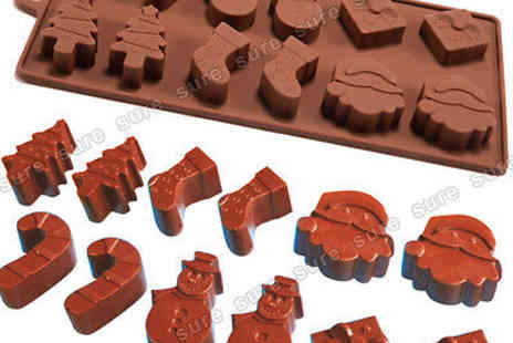 maxexpress4u - Six Shapes Christmas Cake Jelly Ice Chocolate Silicone Fondant Mold Mould Baking - Save 0%