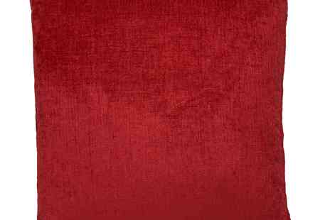 debenhams - Debenhams Red Large Chenille Cushion - Save 20%