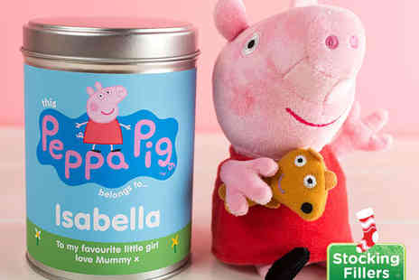 Getting Personal - Peppa Pig Plush Toy with Personalised Tin - Save 55%