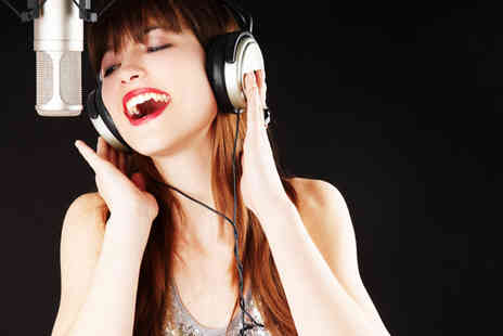 Singing Experience - Two hour recording studio experience for solo  - Save 71%