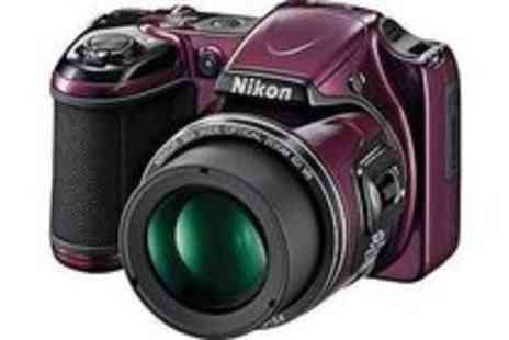 argos - NIKON L820 VNA331E1 16MP COMPACT DIGITAL BRIDGE CAMERA PLUM - Save 45%