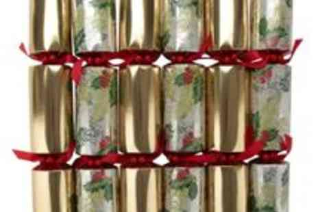 debenhams - Set Of 12 Gold Holly Luxury Crackers - Save 50%