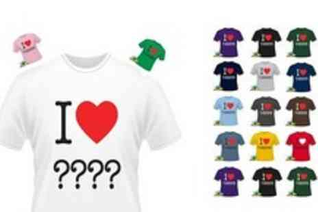 Printmeashirt.com - Customised I Heart t shirt - Save 50%