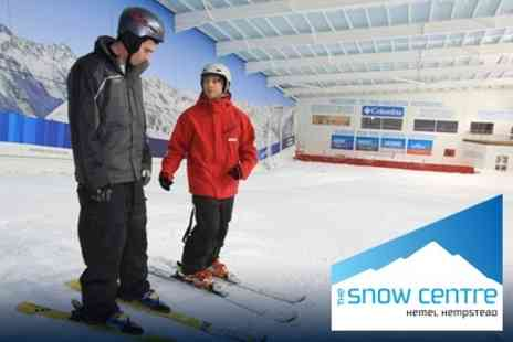 The Snow Centre - One Hour Adult Taster Ski Lesson for £17 - Save 54%