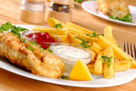 Zennys - Fish and chips for 2 including a glass of wine and a coffee - Save 63%