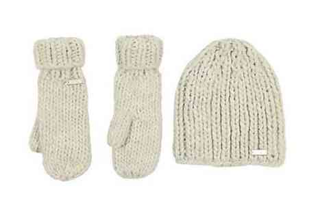 benchclothing - Bench Isola Chunky Knit Hat And Mitten Glove Set Cream - Save 57%
