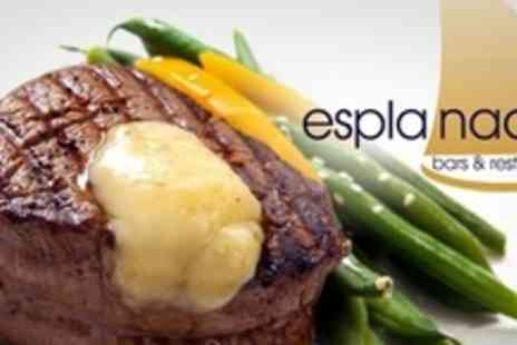 The Esplanade - Lunch For Two Including Steak Sandwich or Battered Cod With Soup and Wine - Save 55%