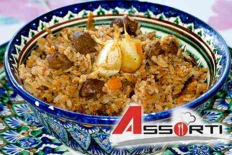 Assorti - Two Courses Of Russian and Central Asian Cuisine for Two Plus Glass of Wine Each for £17 - Save 64%