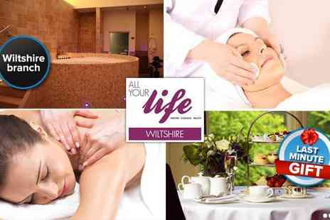 All Your Life Wiltshire - Pampering spa day with up to four treatments - Save 92%