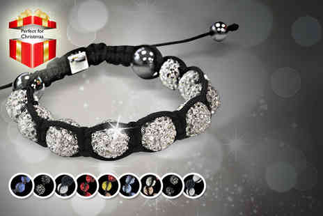 Glam Rocks - Shamballa bracelet in a choice of 10 colours - Save 84%