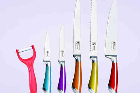 Dructer - Five Piece Stainless Steel Knife Set - Save 79%