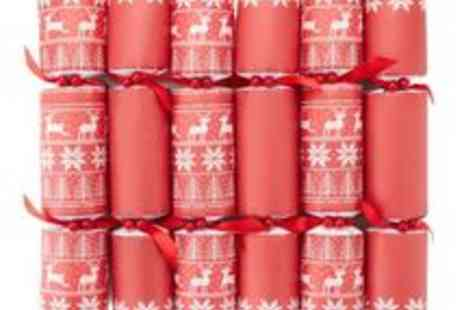 debenhams - Set Of Twelve Red Festive Knit Printed Crackers - Save 50%