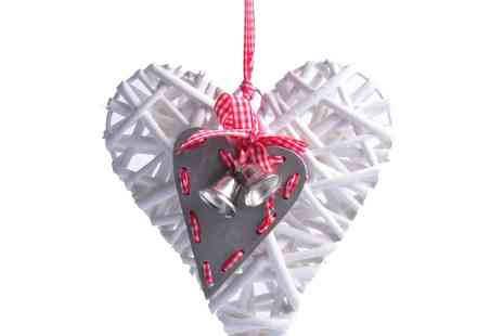 debenhams - Triflora Willow Heart Christmas Decoration - Save 50%