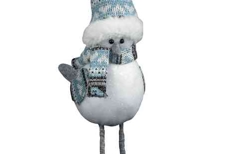 debenhams - Triflora White Christmas Robin - Save 50%
