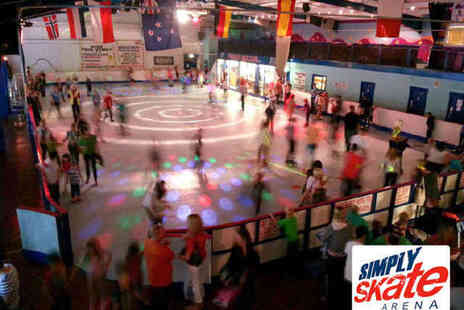 Simply Skate Arena - Two Roller Skate Entries Including Skate Hire, Hot Dog and Drink - Save 60%