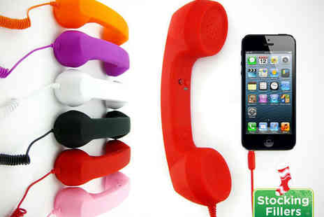 iGadgetry - Retro Handset for Mobile Phones in Choice of Colours - Save 64%