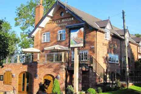 The Dusty Miller - Dinner for 2 with Bubbly at Canalside Inn - Save 55%