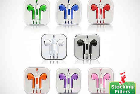 Roolyn - iPhone Compatible Earphones in Choice of Eight Colours - Save 75%