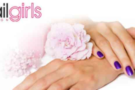 Nail Girls - 1 hour manicure and pedicure - Save 68%