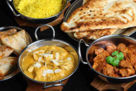 Mumbai Square - Two Course Modern Indian Meal for Two with Wine - Save 51%