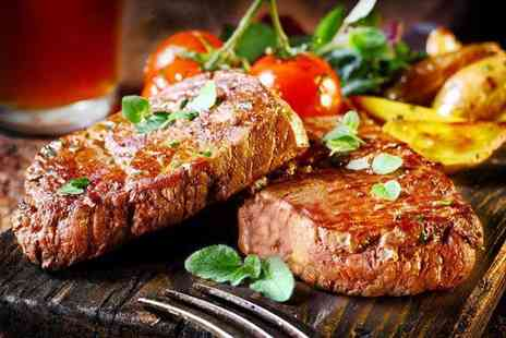 The Dusty Miller - Steak dinner for 2 including a glass of bubbly - Save 57%