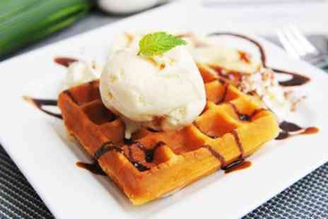 Lick - Ice Cream Waffles and Hot Drinks For Two - Save 52%