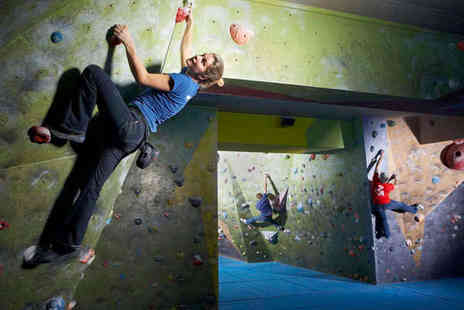 The Climbing Academy - Bouldering Session for Two Adults and Two Further Trips to the Wall Each - Save 79%