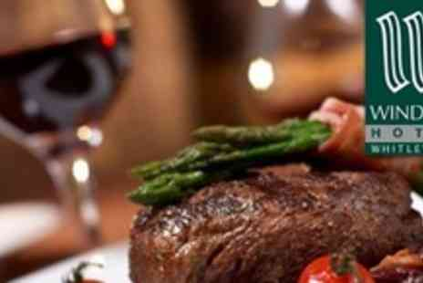 The Windsor Hotel - Steak Dinner With Accompaniment, Sauces and Wine For Two - Save 62%