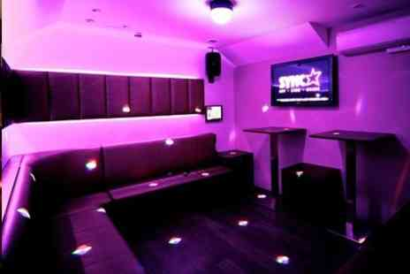 Sync Bar - Karaoke Booth and Drinks For Up to Eight People - Save 83%