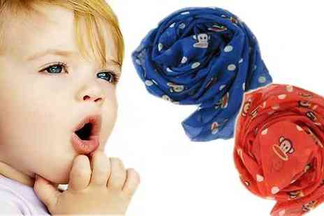 Flutterby Glam - Wrap your kids up warm in the latest kids trend with trendy monkey scarves - Save 50%