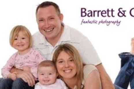 Barrett & Coe Photography - Family Photo Shoot With Framed Print and Digital Showreel - Save 90%