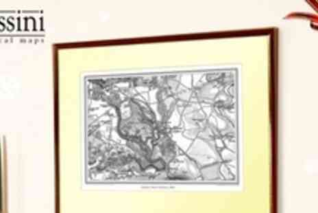 Cassini Maps - Personalised Framed and Mounted Vintage Map - Save 50%