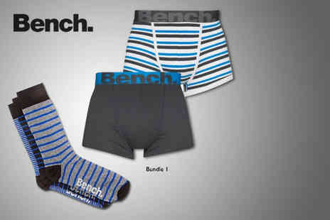 Velocity Outlet - Bench Mens underwear bundle including 2 pairs of boxers & 3 pairs of socks - Save 48%