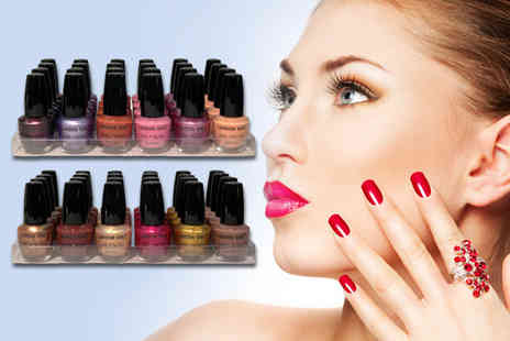 Zuvo - Girl nail polish pack including 24 polishes in various colours  - Save 74%