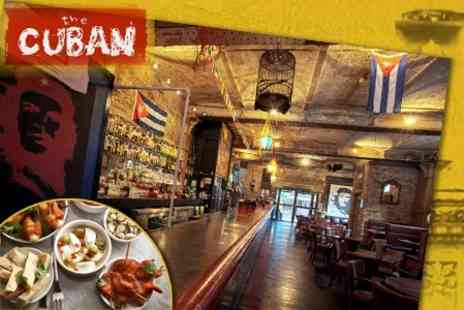 The Cuban - Nine Tapas Dishes and a Pitcher of Sangria for Two People, Value £43.95 - Save 61%